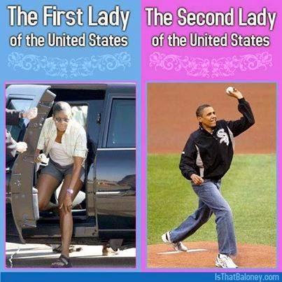 Barack and Michelle Obama American ladies
